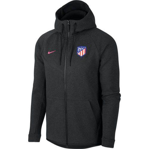 Nike Atletico Madrid Tech Fleece Windrunner Hoodie Black Heather