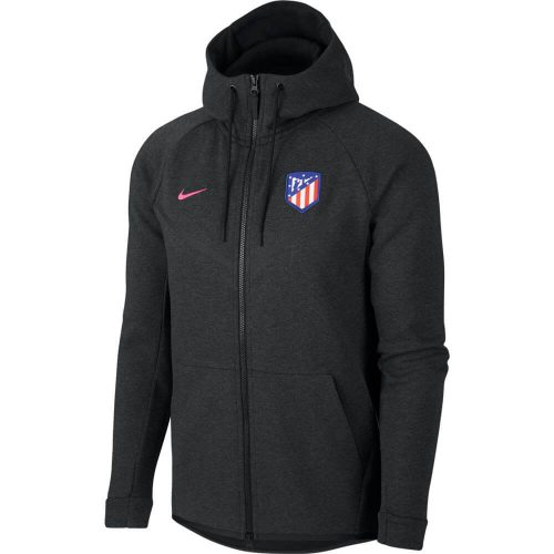 Nike Atletico Madrid Tech Fleece Windrunner Hoodie Black Heather