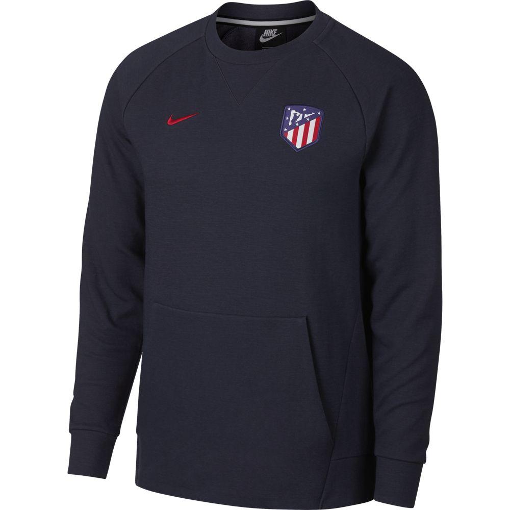Nike Atletico Madrid Crew Sweater Optic Obsidian