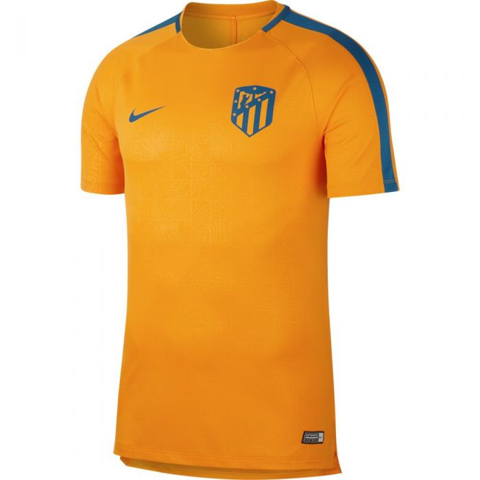 Nike Atletico Madrid Dry Squad Trainingsshirt Champions League 2018-2019 Oranje