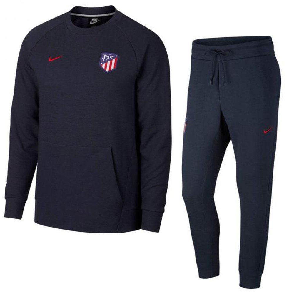 Nike Atletico Madrid Crew Trainingspak 2018-2019 Optic Obsidian