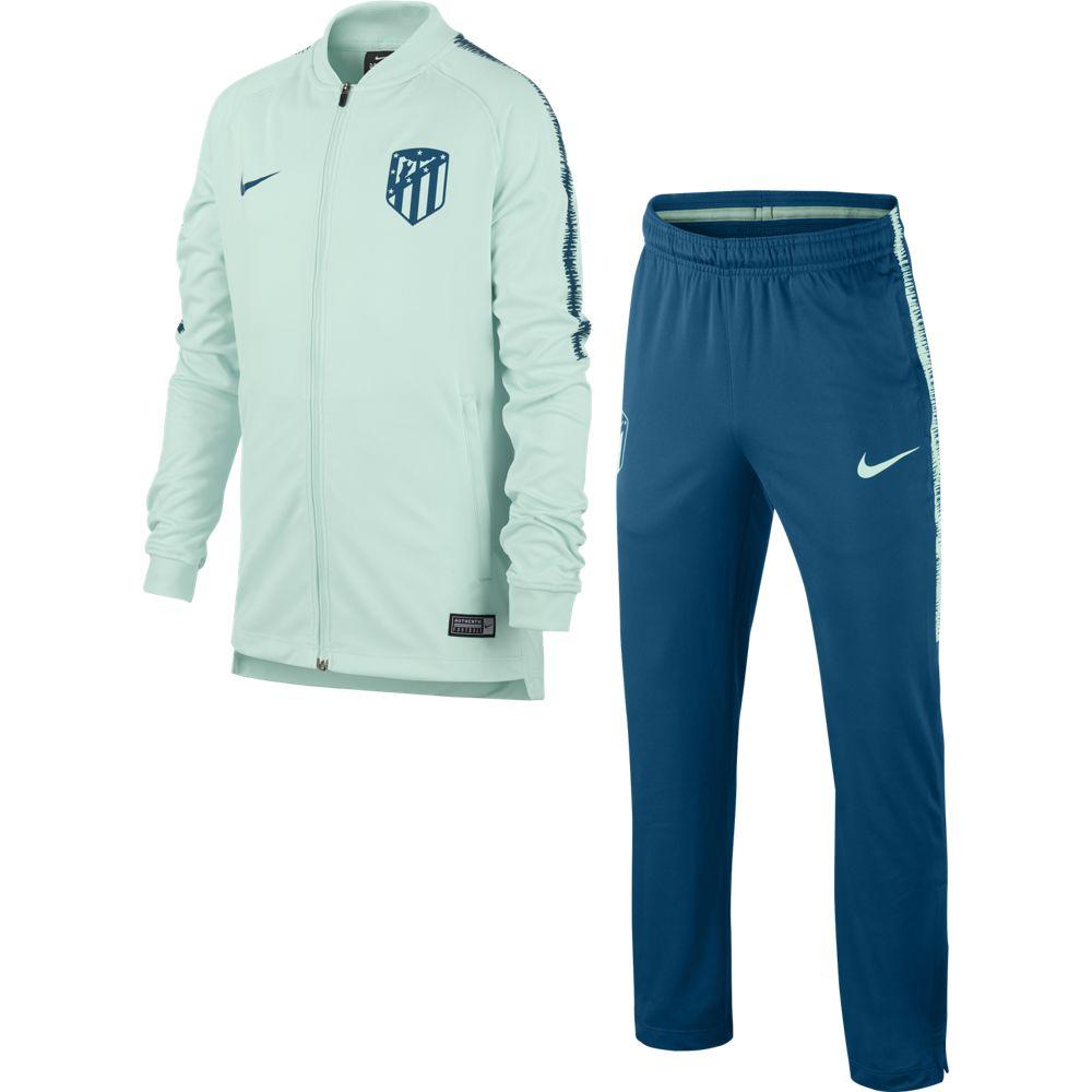 Nike Atletico Madrid Dry Squad Trainingspak 2018-2019 Kids Groen Blauw
