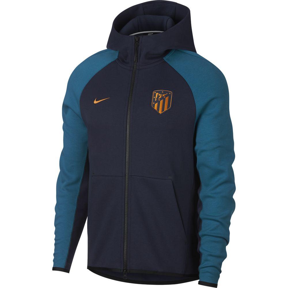 Nike Atletico Madrid Tech Fleece Hoodie 2018-2019 Blauw Groen Oranje