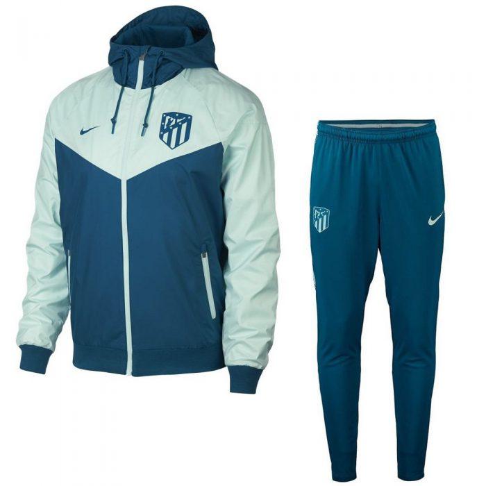 Nike Atletico Madrid Authentic Windrunner Trainingspak 2018-2019 Blauw Groen
