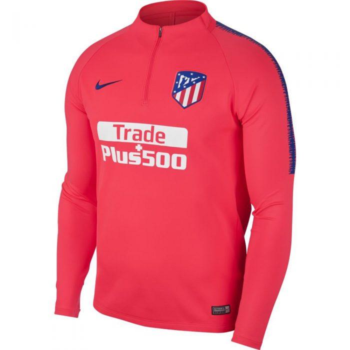 Nike Atletico Madrid Dry Squad Drill Trainingstrui 2018-2019 Roze Blauw