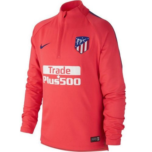 Nike Atletico Madrid Dry Squad Trainingstrui 2018-2019 Kids Roze Blauw