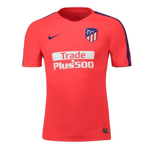 Nike Atletico Madrid Breathe Squad Trainingsshirt 2018-2019 Rood Blauw