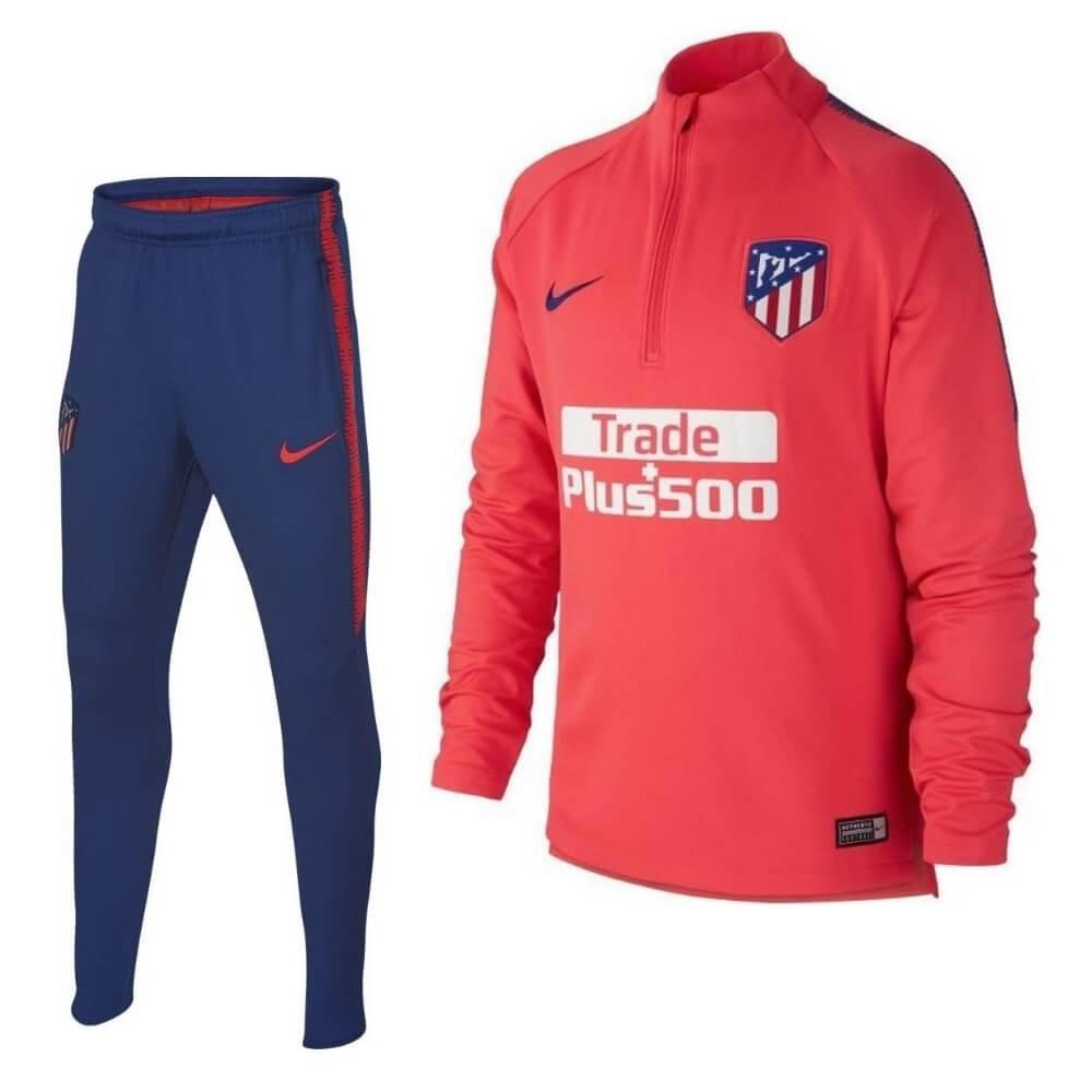 Nike Atletico Madrid Drill Trainingspak 2018-2019 Kids Rood Blauw