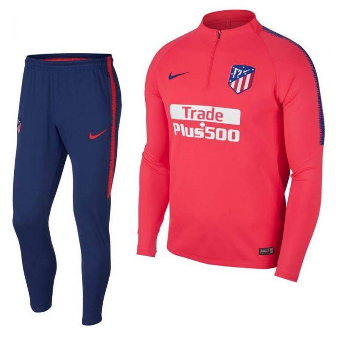 Nike Atletico Madrid Drill Trainingspak 2018-2019 Rood Blauw