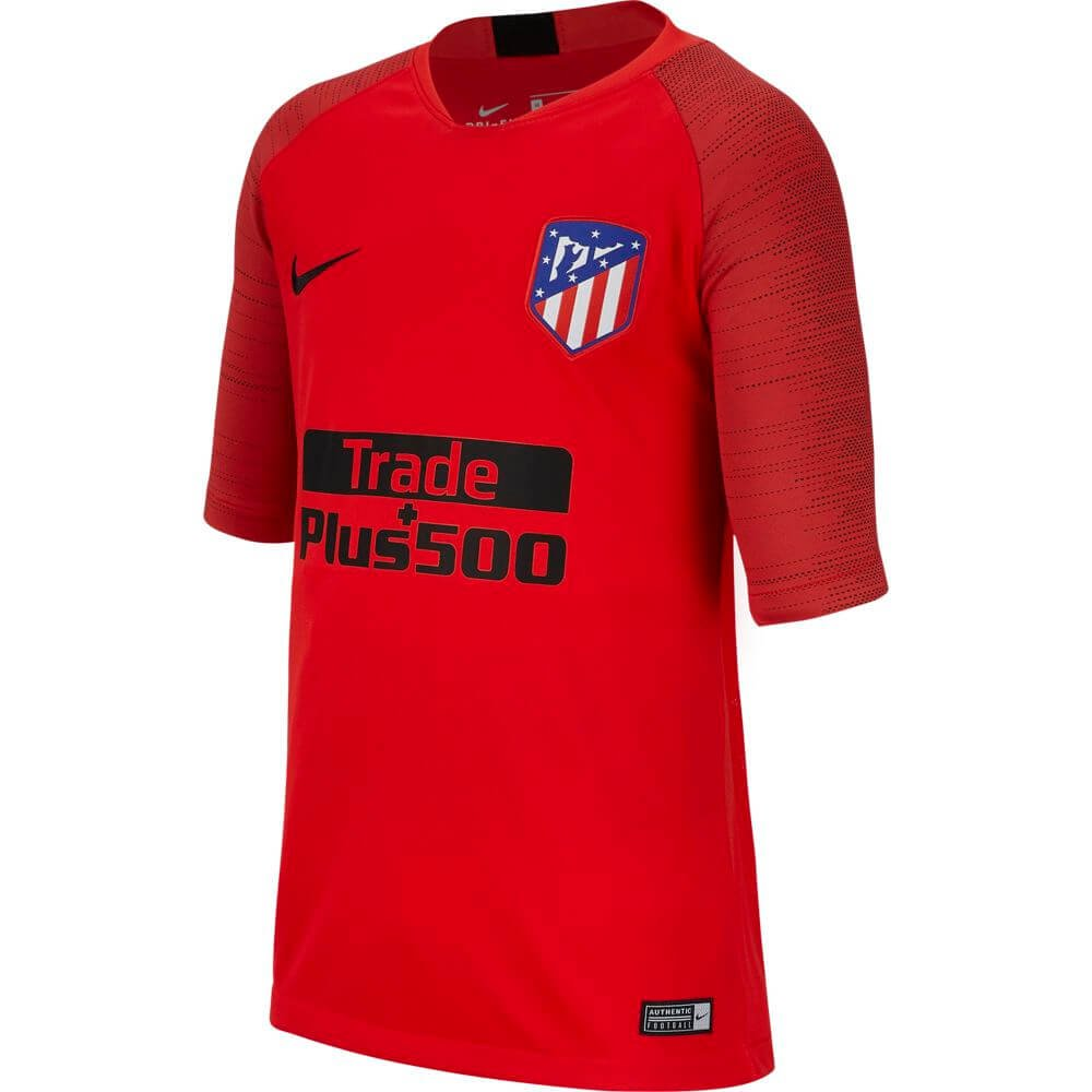 Nike Atletico Madrid Breathe Strike Trainingsshirt 2019-2020 Kids Rood