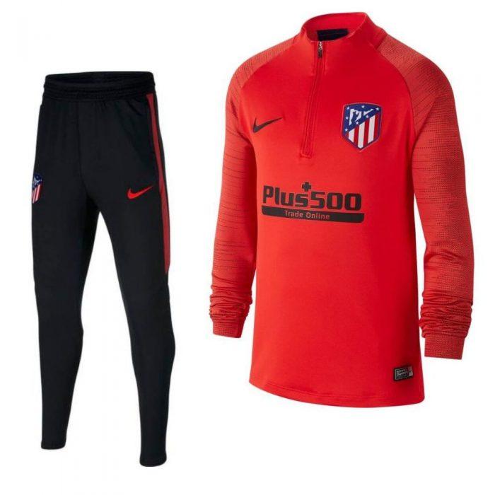 Nike Atletico Madrid Strike Drill Trainingspak 2019-2020 Kids Rood Zwart