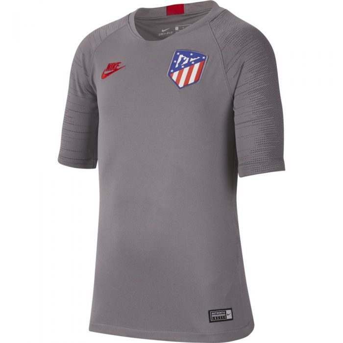Nike Atletico Madrid Strike Trainingsshirt 2019-2020 Kids Grijs Rood