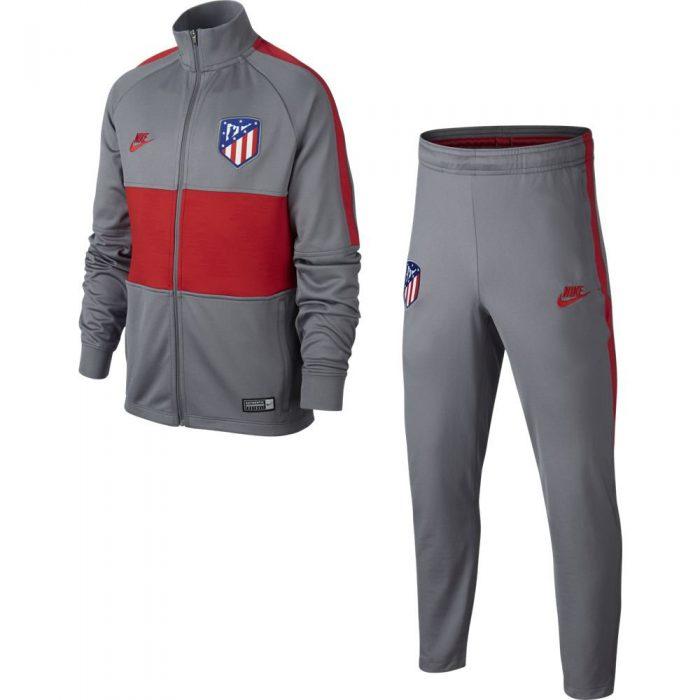 Nike Atletico Madrid Strike Trainingspak 2019-2020 Kids Grijs Rood