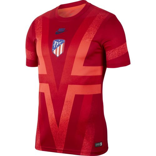 Nike Atletico Madrid Champions League Dry Trainingsshirt 2019-2020 Rood Blauw