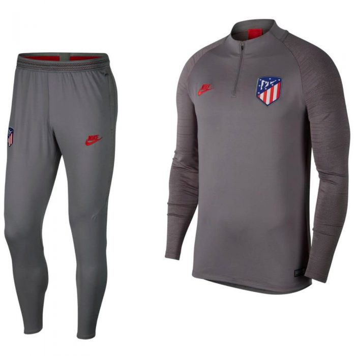 Nike Atletico Madrid Dry Strike Drill Trainingspak Champions League 2019-2020 Grijs