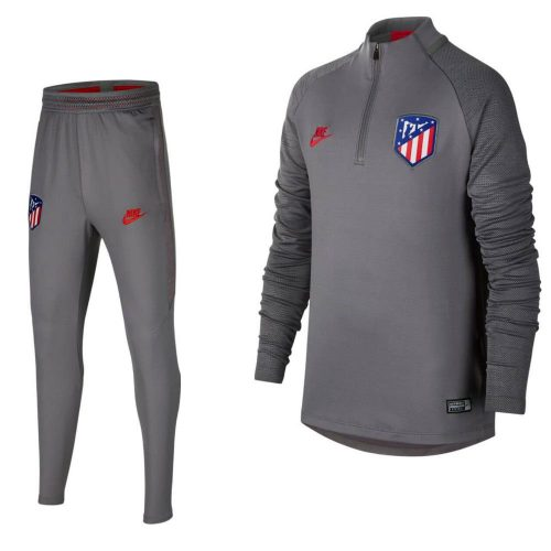 Nike Atletico Madrid Dry Strike Drill Trainingspak Champions League 2019-2020 Grijs Kids