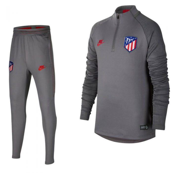 Nike Atletico Madrid Dry Strike Drill Trainingspak Champions League 2019-2020 Grijs Kids