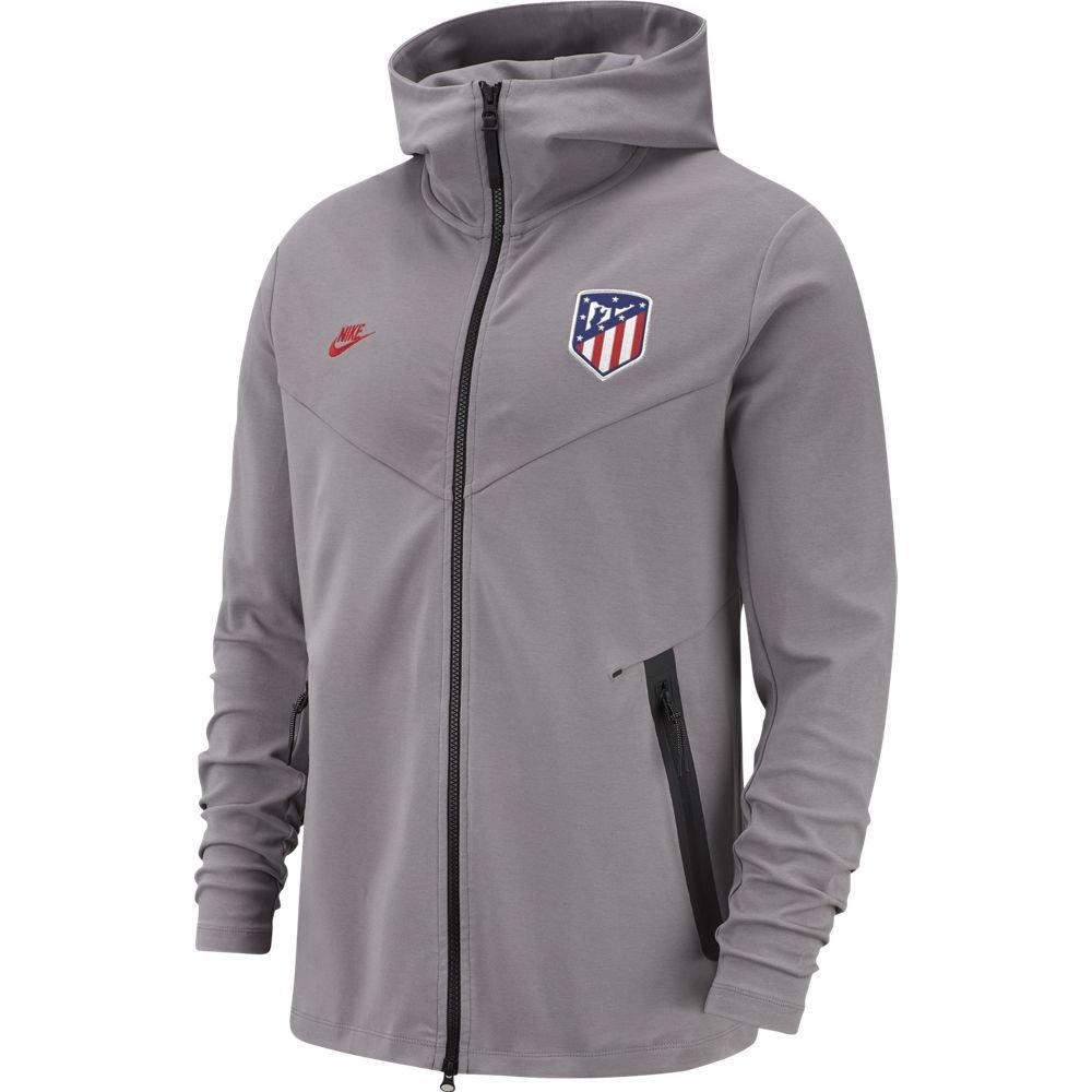 Nike Atletico Madrid Tech Fleece Pack Hoodie FZ 2019-2020 Grijs Zwart