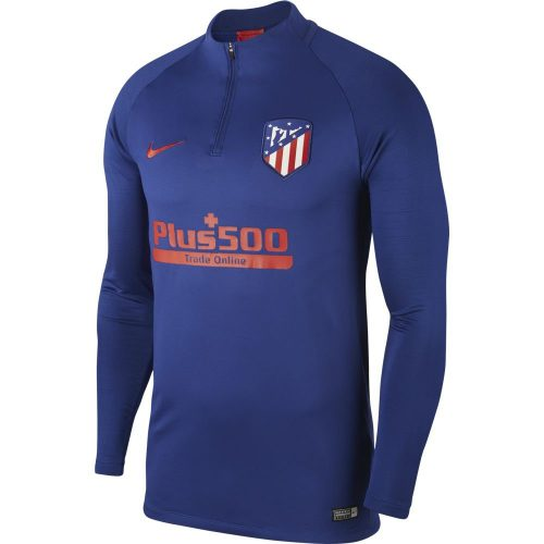 Nike Atletico Madrid Dry Strike Trainingstrui 2019-2020 Blauw Rood