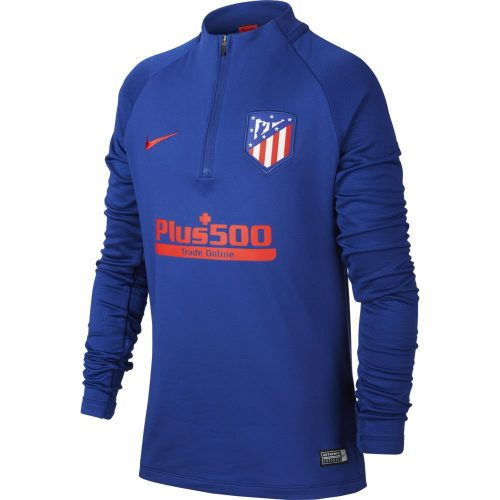 Nike Atletico Madrid Dry Strike Trainingstrui 2019-2020 Blauw Rood Kids