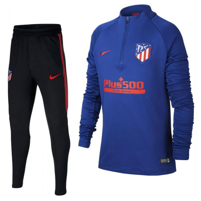 Nike Atletico Madrid Dry Strike Trainingspak 2019-2020 Kids Blauw Rood