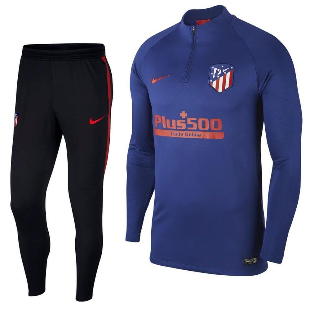 Nike Atletico Madrid Dry Strike Trainingspak 2019-2020 Blauw Rood